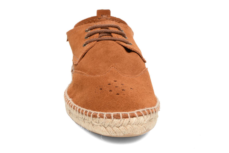 Espadrilles Gioseppo Coveta Marron vue portées chaussures