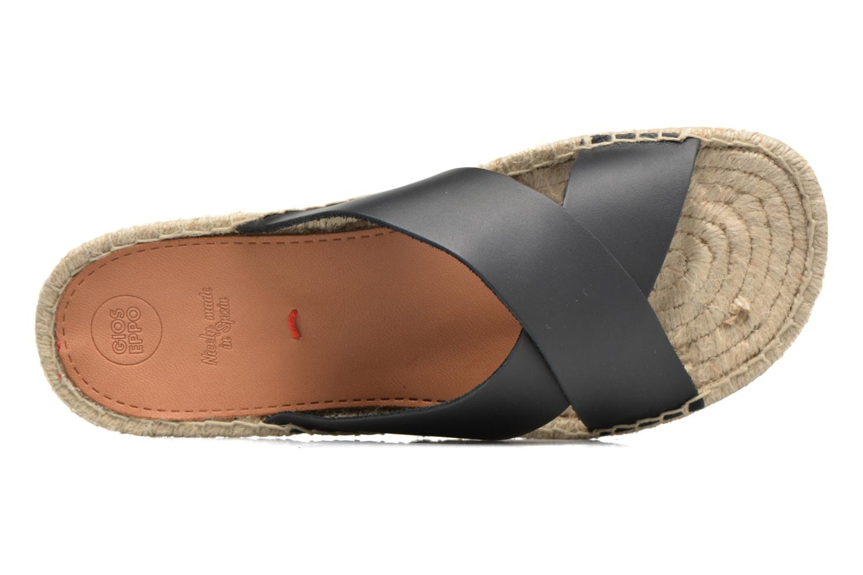 Sandales et nu-pieds Gioseppo Ateneo Noir vue gauche