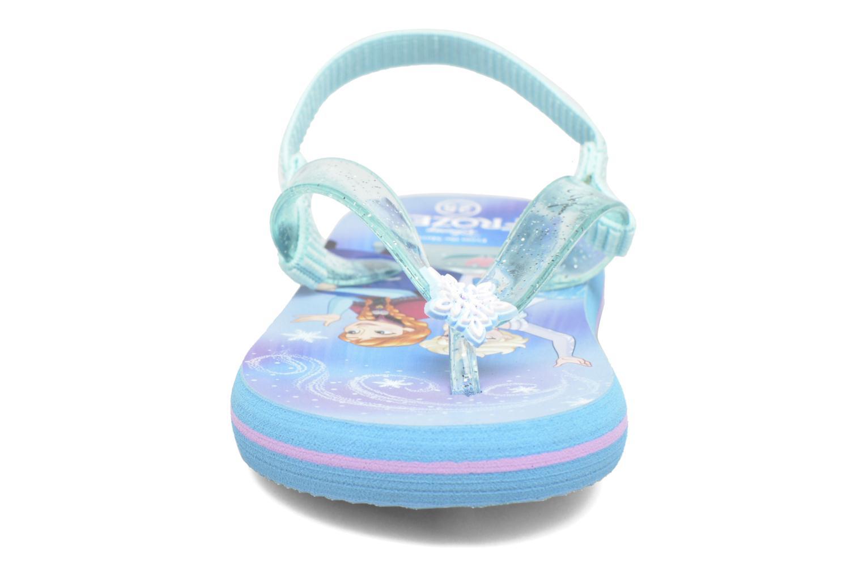 Tongs Frozen TAKANA Bleu vue portées chaussures