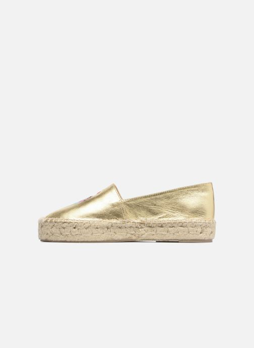 Alpargatas Apologie Yvette Oro y bronce vista de frente