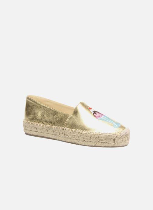 Espadrillos Apologie Yvette Guld og bronze detaljeret billede af skoene