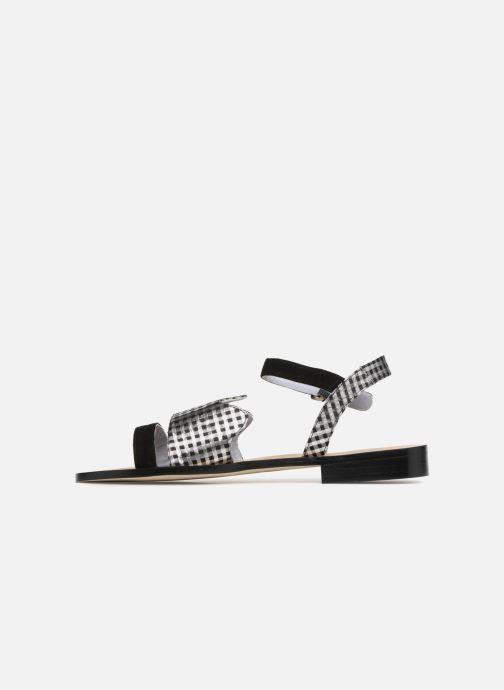 Sandales et nu-pieds Apologie Vague Noir vue face