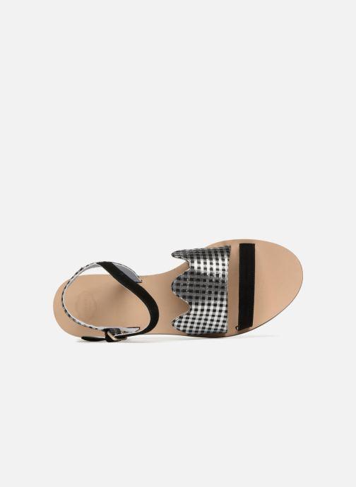 Sandales et nu-pieds Apologie Vague Noir vue gauche