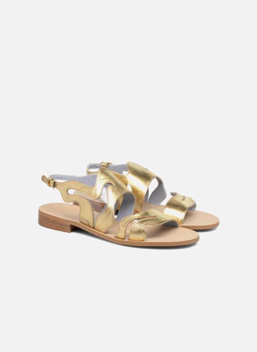 Sandales et nu-pieds Apologie Wavy Or et bronze vue 3/4