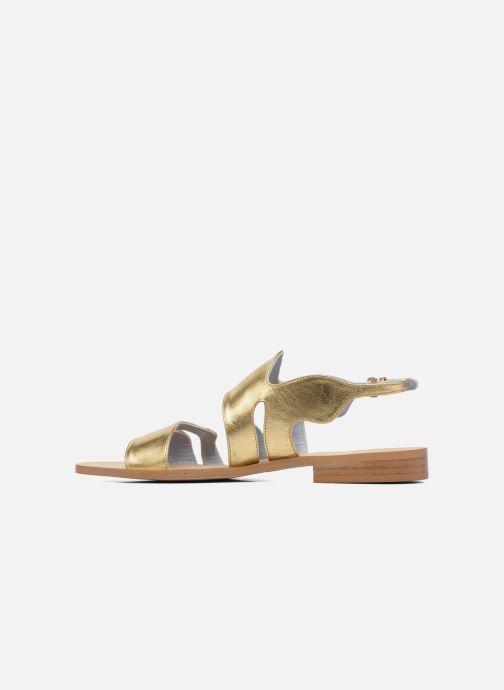Sandales et nu-pieds Apologie Wavy Or et bronze vue face