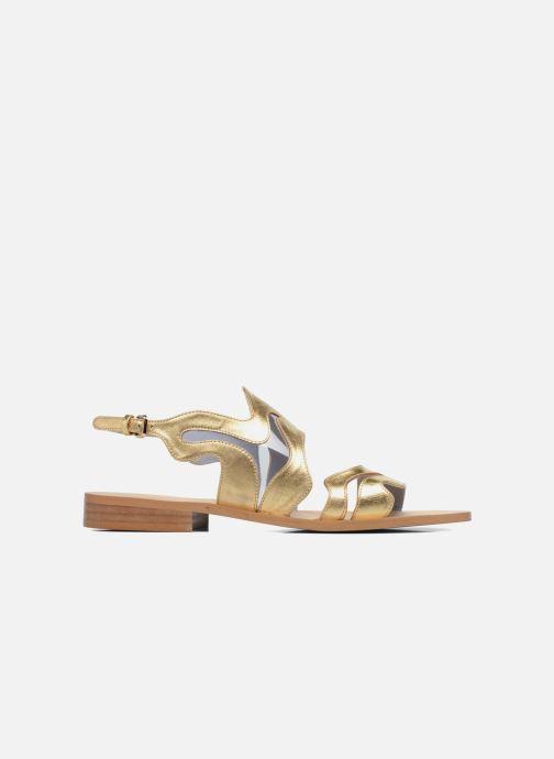 Sandales et nu-pieds Apologie Wavy Or et bronze vue derrière