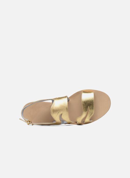 Sandales et nu-pieds Apologie Wavy Or et bronze vue gauche