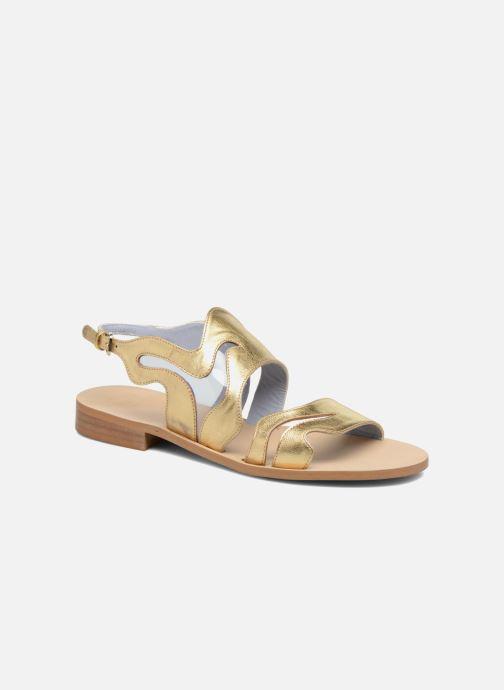 Sandales et nu-pieds Apologie Wavy Or et bronze vue détail/paire