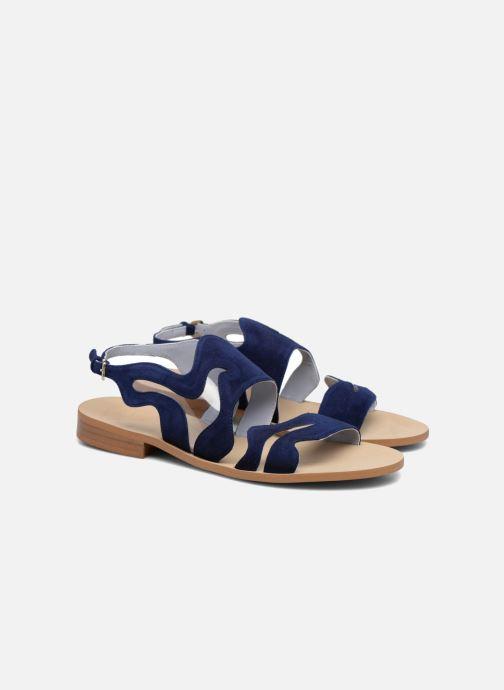Sandales et nu-pieds Apologie Wavy Bleu vue 3/4