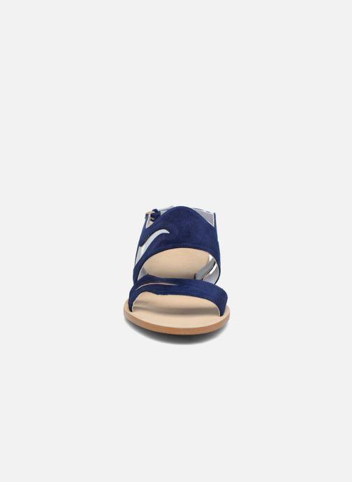 Sandales et nu-pieds Apologie Wavy Bleu vue portées chaussures