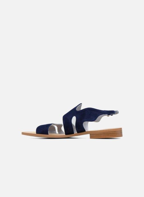 Sandales et nu-pieds Apologie Wavy Bleu vue face