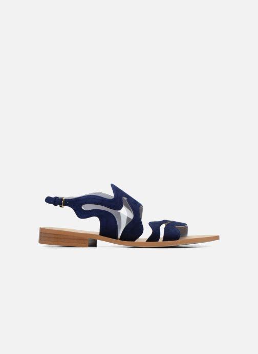 Sandales et nu-pieds Apologie Wavy Bleu vue derrière