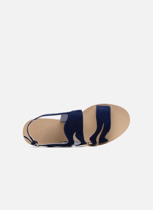 Apologie Chez pieds Nu Sandales bleu Wavy Et BxngrBvq