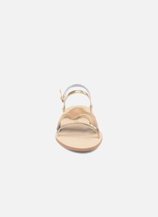 Sandales et nu-pieds Apologie Nemo Or et bronze vue portées chaussures