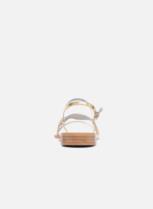 Sandales et nu-pieds Apologie Nemo Or et bronze vue droite