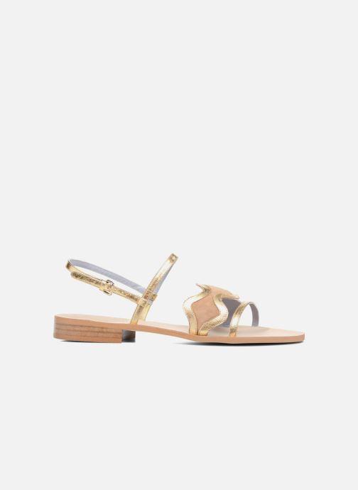 Sandales et nu-pieds Apologie Nemo Or et bronze vue derrière