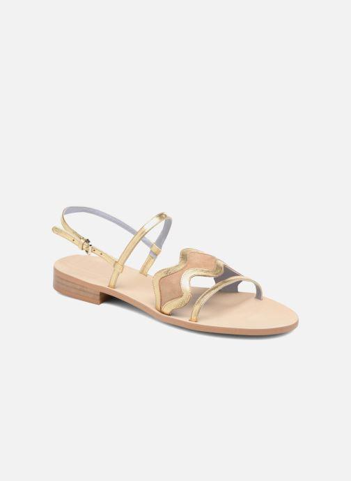 Sandales et nu-pieds Apologie Nemo Or et bronze vue détail/paire