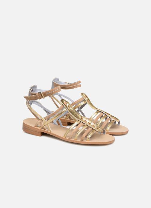 Sandales et nu-pieds Apologie Medusa Or et bronze vue 3/4