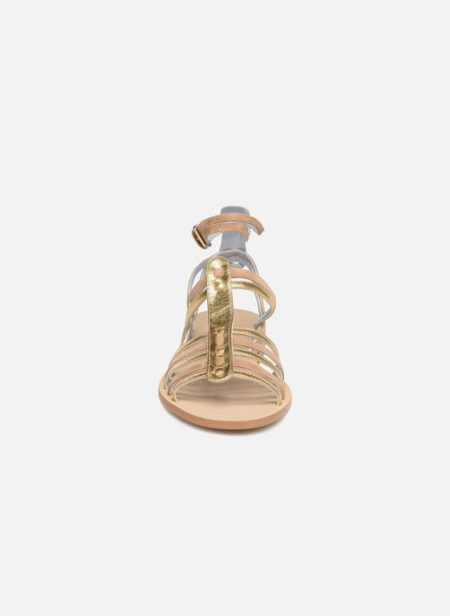 Sandalen Apologie Medusa gold/bronze schuhe getragen