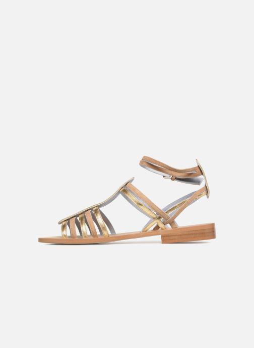 Sandales et nu-pieds Apologie Medusa Or et bronze vue face