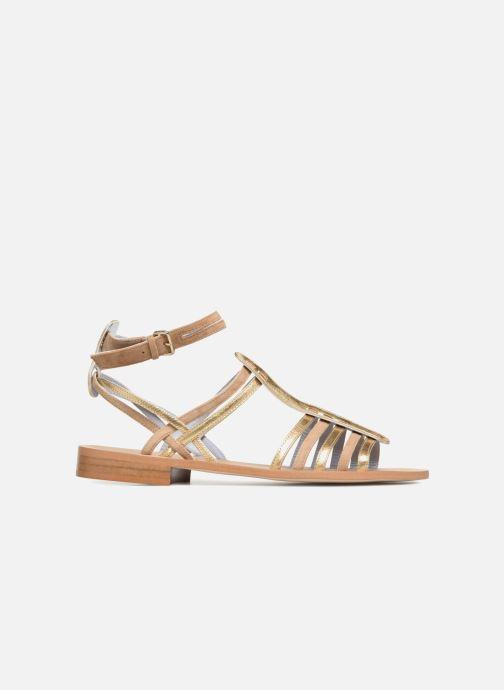 Sandales et nu-pieds Apologie Medusa Or et bronze vue derrière