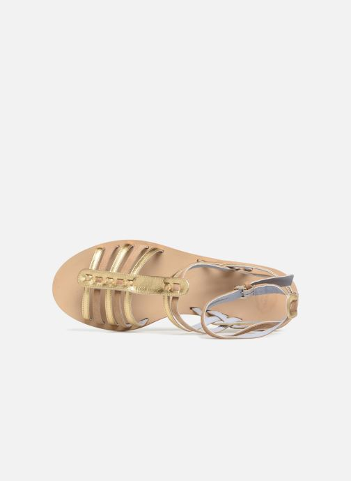 Sandalen Apologie Medusa gold/bronze ansicht von links