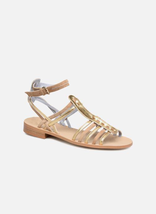 Sandales et nu-pieds Apologie Medusa Or et bronze vue détail/paire