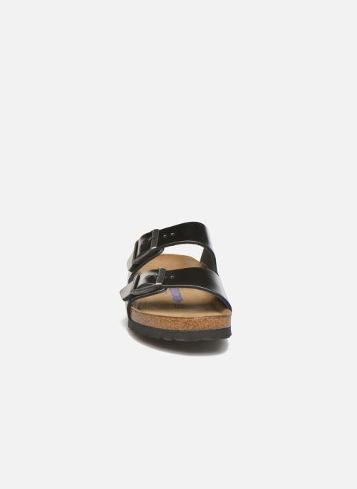 Clogs & Pantoletten Birkenstock Arizona EVA W grau schuhe getragen