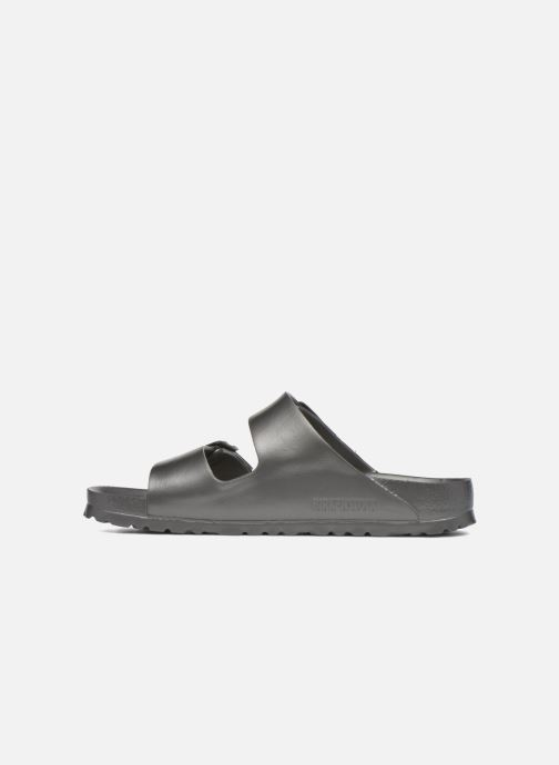 Zuecos Birkenstock Arizona Cuir Soft Footbed Gris vista de frente