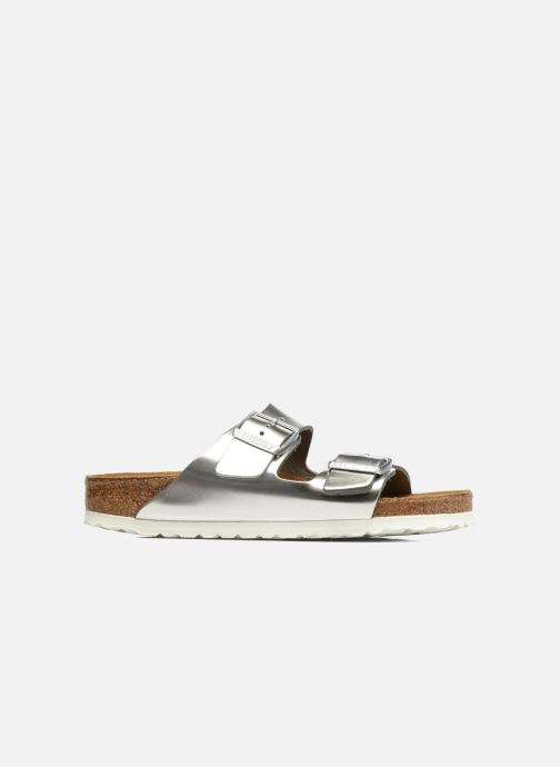 Cuir Arizona Metallic Soft Birkenstock Footbed Silver TlFK1Jc3