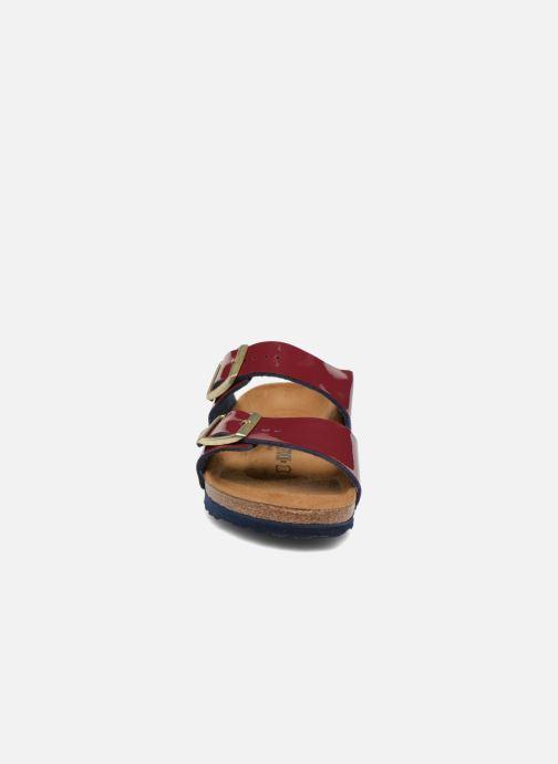 Mules et sabots Birkenstock Arizona EVA W Bordeaux vue portées chaussures