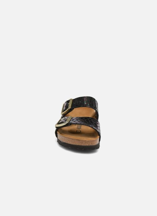Wedges Birkenstock Arizona Cuir Soft Footbed Zwart model