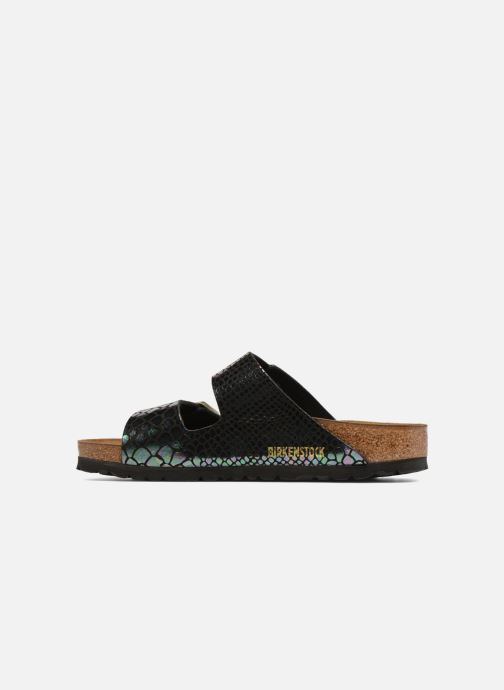 Arizona Shiny Multi Soft Cuir Black Snake Birkenstock Footbed mvnyN80PwO