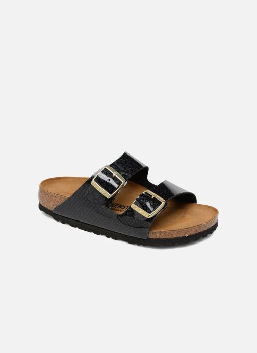 Mules et sabots Birkenstock Arizona Cuir Soft Footbed Noir vue détail/paire
