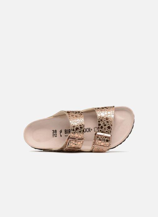 Zuecos Birkenstock Arizona Cuir Soft Footbed Oro y bronce vista lateral izquierda