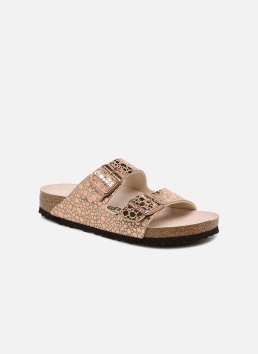 Mules et sabots Birkenstock Arizona Cuir Soft Footbed Or et bronze vue détail/paire