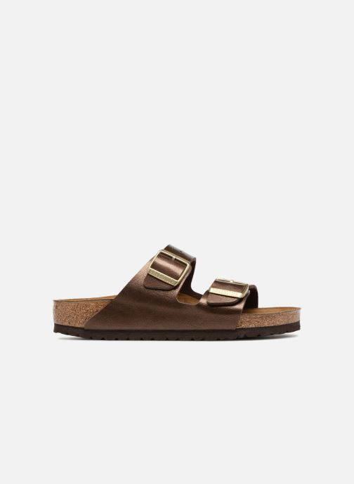 Wedges Birkenstock Arizona Cuir Soft Footbed Bruin achterkant