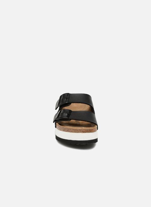 Mules et sabots Birkenstock Arizona Cuir Soft Footbed Noir vue portées chaussures