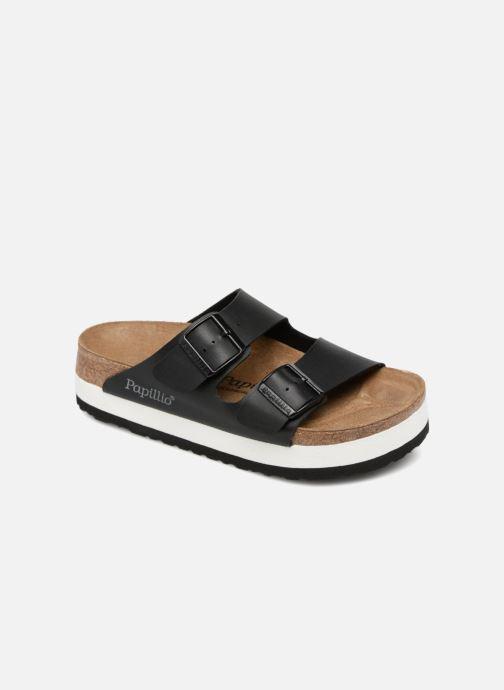 Zuecos Birkenstock Arizona Cuir Soft Footbed Negro vista de detalle / par