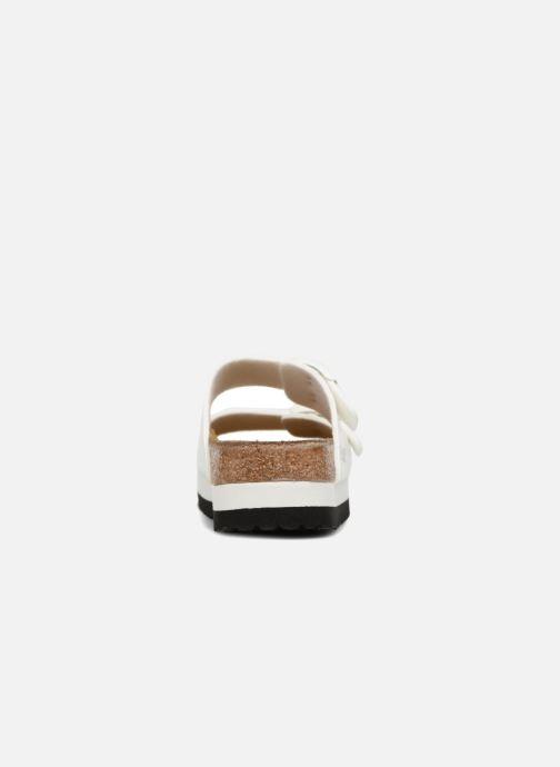 Mules et sabots Birkenstock Arizona Cuir Soft Footbed Blanc vue droite