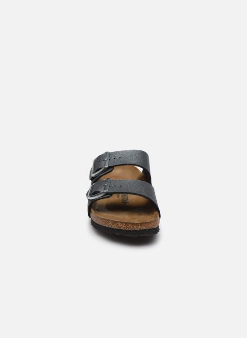 Clogs & Pantoletten Birkenstock Arizona EVA W silber schuhe getragen