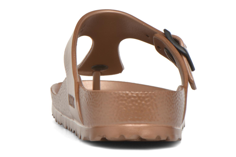Sandales et nu-pieds Birkenstock Gizeh EVA W Marron vue droite
