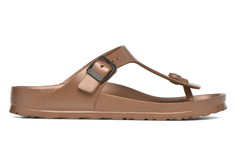 Sandales et nu-pieds Birkenstock Gizeh EVA W Marron vue derrière