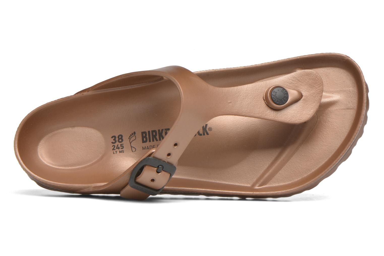 Sandales et nu-pieds Birkenstock Gizeh EVA W Marron vue gauche