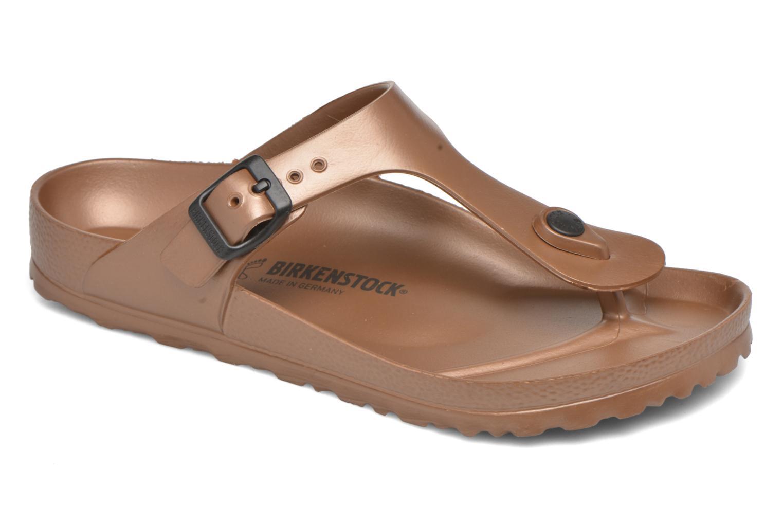 Sandales et nu-pieds Birkenstock Gizeh EVA W Marron vue détail/paire