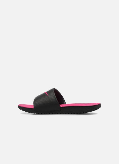 Sandales et nu-pieds Nike Nike Kawa Slide (Gs/Ps) Noir vue face