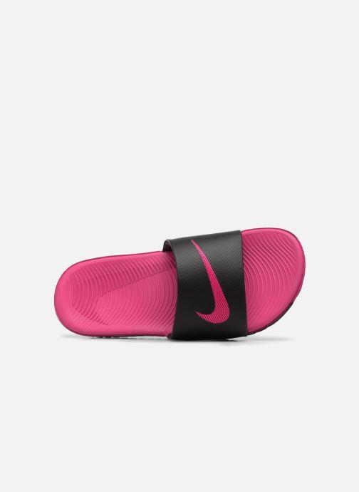 Sandales et nu-pieds Nike Nike Kawa Slide (Gs/Ps) Noir vue gauche
