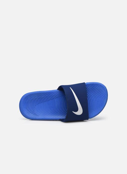 Sandales et nu-pieds Nike Nike Kawa Slide (Gs/Ps) Bleu vue gauche