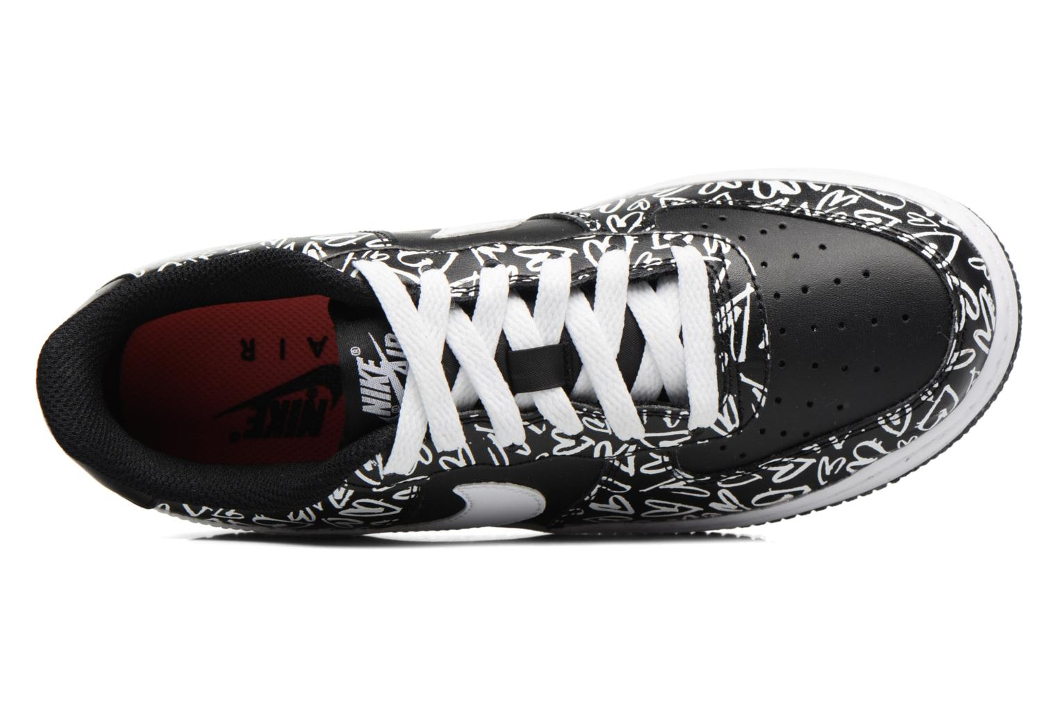 Sneakers Nike Air Force 1 Print (Gs) Nero immagine sinistra