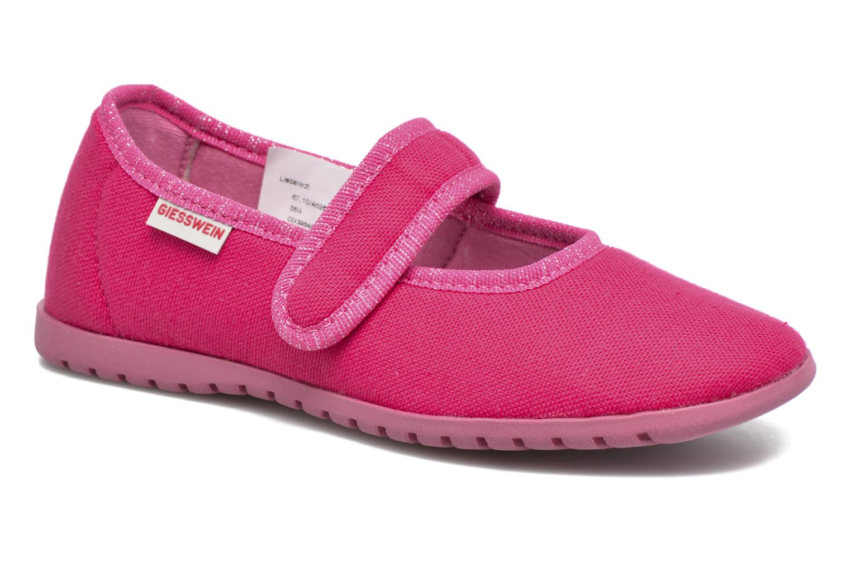 Hjemmesko Giesswein Liebsted Pink detaljeret billede af skoene
